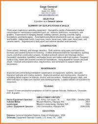 general laborer resume good resume examples