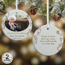 personalized remembrance ornaments personalized photo memorial christmas ornament in loving memory