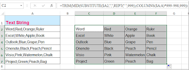 how to reverse the concatenate function in excel
