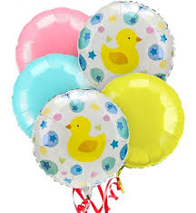 mylar balloon bouquet new baby balloon bouquet 5 mylar balloons a beautiful