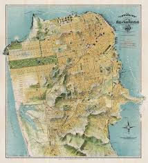 Map Of Greater San Francisco Area by Chevalier Map Of San Francisco 1912