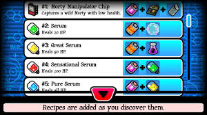 pocket mortys crafting recipes guide gamezebo