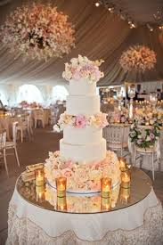 Wedding Cake Table Traditional Ceremony Glamorous Garden Inspired Tented Reception