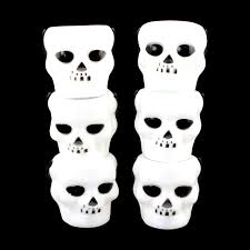 halloween city chino ca mini white plastic skeleton skull candy trick or treat halloween