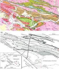 Map Southern France by Tectonic History Of The Hercynian Armorican Shear Belt Brittany