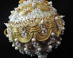 Pearl Christmas Ornaments Sale by Sequin Ornaments Etsy