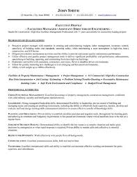 Property Management Job Description For Resume by Wonderful Facility Manager Job Description Resume 60 For Your