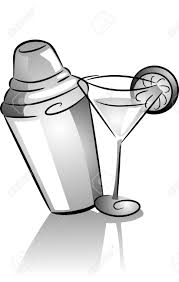 margarita glass cartoon drinking clipart martini shaker pencil and in color drinking