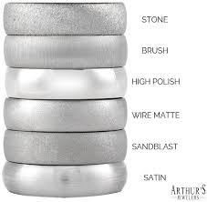 wedding band types men s wedding band finishes and textures arthur s wedding bands