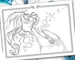 spirit fantasy grayscale coloring book fairy angels