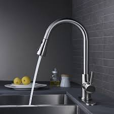 kitchen cabinet sink faucets wewe single handle high arc brushed nickel pull out kitchen faucet single level stainless steel kitchen sink faucets with pull sprayer