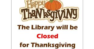 limestone township library district closed for thanksgiving and