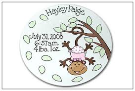 baby birth plates personalized spunky monkey personalized birth plate serendipity crafts