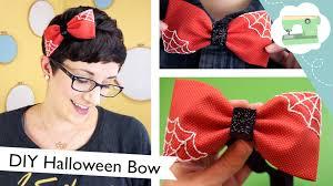 halloween bow ties diy halloween bow headband tricks or treats youtube