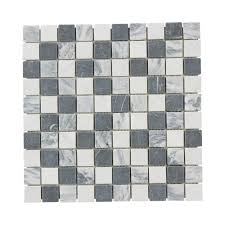 Marble Mosaic Floor Tile Jeffrey Court Carrara Mix 12 In X 12 In X 8 Mm Marble Mosaic