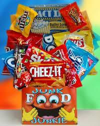 Junk Food Gift Baskets Deluxe Junk Food Gift Basket