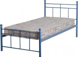 Metal Bed Frames Single by Callum Boys Bed Frame Metal Blue Finish Low Foot End Single