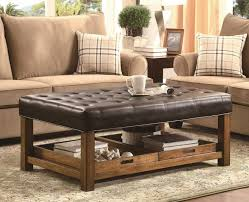 coffee table leather coffee table cedar and stools set of 4