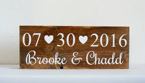 save the date signs wood signs wedding decor painted daisies