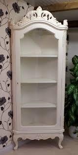 antique white display corner cabinet hampshire barn interiors antique white display corner cabinet