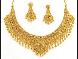 image gold necklace images Wedding bridal broad gold necklace designs real gold necklace jpg