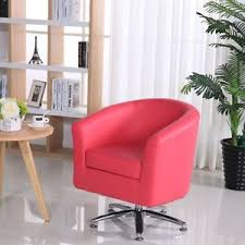 DELUXE LEATHER SWIVEL TUB CHAIR ARMCHAIR DINING LIVING ROOM HOTEL - Swivel tub chairs living room