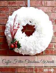 coffee filter christmas wreath coffee filters wreaths and coffee