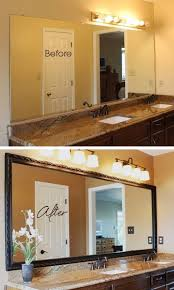 How To Frame A Bathroom Mirror Framing Bathroom Mirrors A Great Tutorial With Step By Step