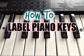 how to label your keyboard piano with letters black u0026 white keys