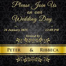 marriage invitation cards online write name on black floral wedding invitations cards wishes