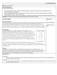lesson plan higher direct proportion formula lesson plan