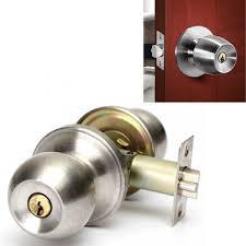 Bathroom Door Lock Stainless Steel Cylinder Round Knob Door Handle - Bathroom door knob with lock