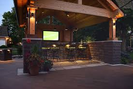 outdoor kitchen lights outdoor landscape lighting solutions in fishers indiana