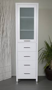 White Linen Cabinets For Bathroom Extraordinary Excellent Design White Linen Cabinet For Bathroom In