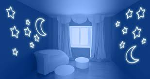 Glow In The Dark Star Ceiling by Moon Stars Glow In The Dark Wall Stickers Dezign With A Z