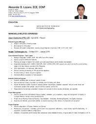 Network Engineer Sample Resume by Ccnp Resume Format Resume Format