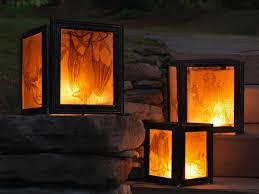 patio ideas outdoor decorative lantern with black lantern covers