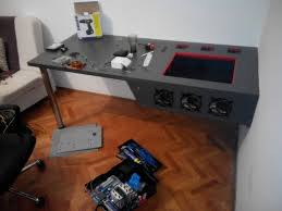 Diy Built In Desk Plans Furniture How To Build A Desk From Scratch Pc Desk Diy