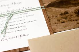 rustic wedding invitations denver wedding invitations greeting
