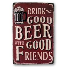 Home Decor Suppliers by Lightningstore Vintage Metal Drink Good Beer With Good Friends Sign Bo
