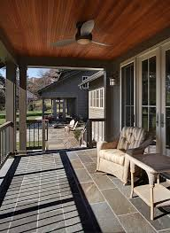 stained beadboard ideas porch traditional with gable roof teak
