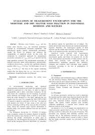 evaluation of measurement uncertainty for the moisture and dry