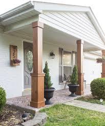 craftsman style porch front porch columns diy craftsman style porch columns shades of