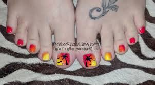 toe nail art laura ann