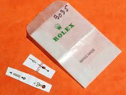 rolex nos 16800 168000 16610 tritium vanilla color hands set