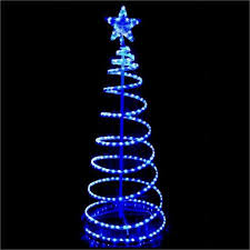 2 1m outdoor led 3d spiral tree light