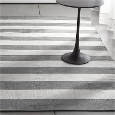 Grey And White Kitchen Rugs Crate And Barrel Kitchen Rug Olin Grey Striped Cotton Dhurrie Rug