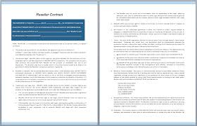 reseller contract template reseller contract template free template downloads