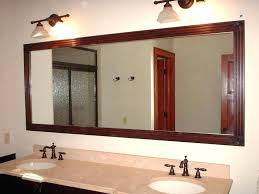 custom bathroom mirror frames ideas charming framed bathroom