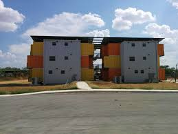 container style apartment complex completed on eagle ford shale